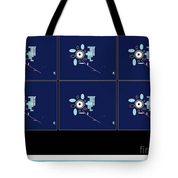 Tote Bag featuring the digital art Her 1st Flowers 2 by Ann Calvo