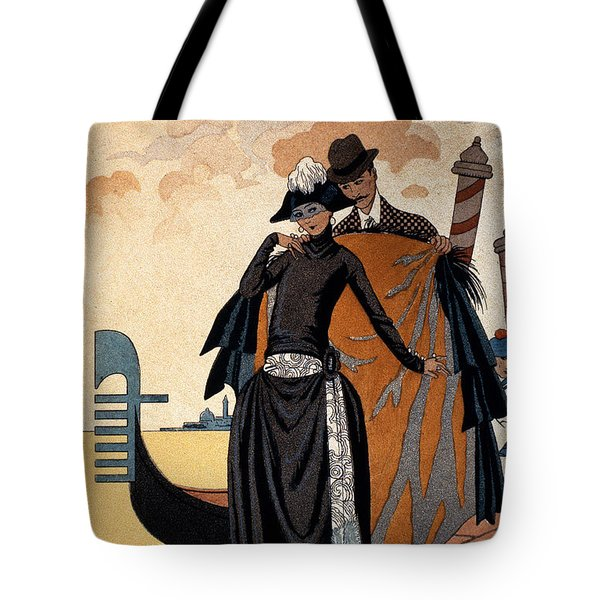 Her And Him Tote Bag by Georges Barbier