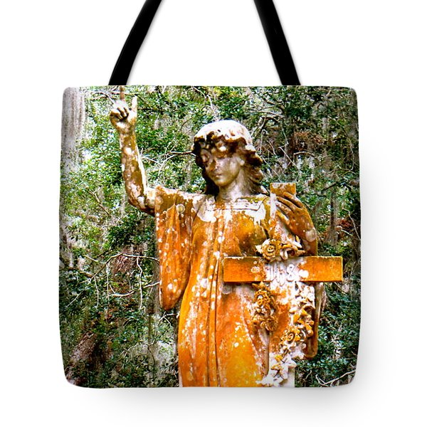 Tote Bag featuring the photograph Her Guardian Angel by Joy Hardee