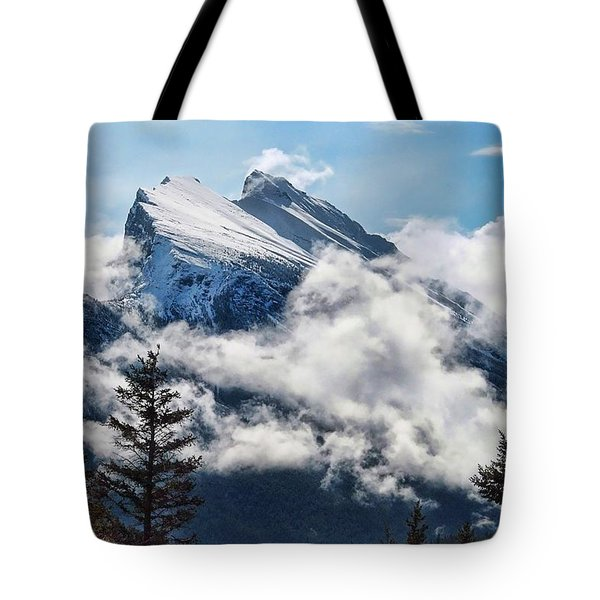 Her Majesty - Canada's Mount Rundle Tote Bag by Dyle   Warren