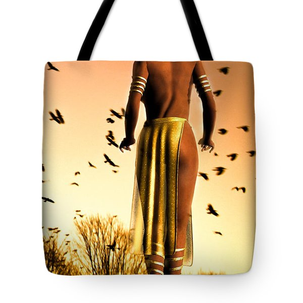 Her Morning Walk Tote Bag