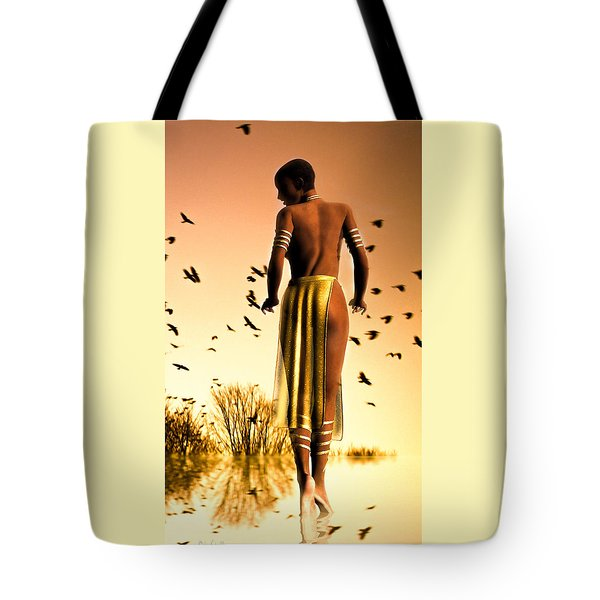 Her Morning Walk Tote Bag