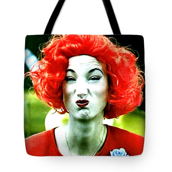 Tote Bag featuring the painting Her Name Is Li . . .  by Luis Ludzska