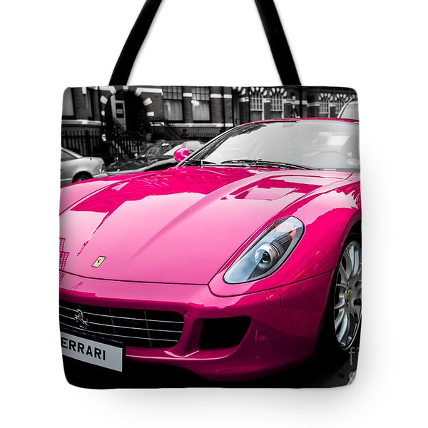 Her Pink Ferrari Tote Bag by Matt Malloy
