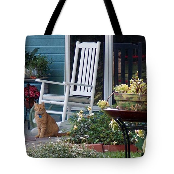 Tote Bag featuring the photograph Her Porch by John Glass