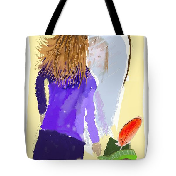 Tote Bag featuring the digital art Her Reflection by Arline Wagner