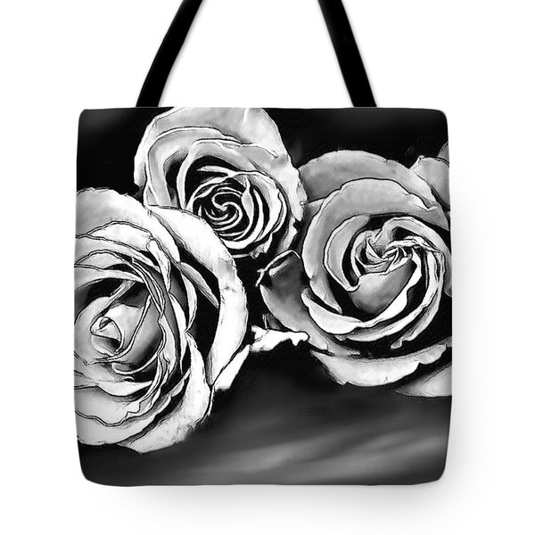 Her Roses Tote Bag by Bonnie Willis