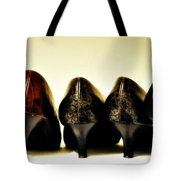 Her Shoes Tote Bag by Bill Cannon