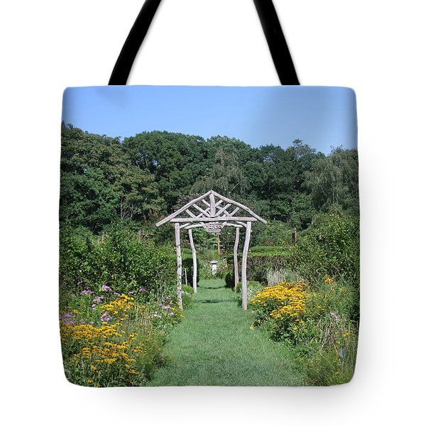 Tote Bag featuring the photograph Herb Garden by Karen Silvestri