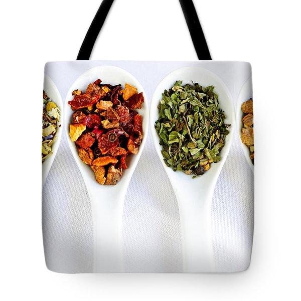 Herbal Teas Tote Bag by Elena Elisseeva