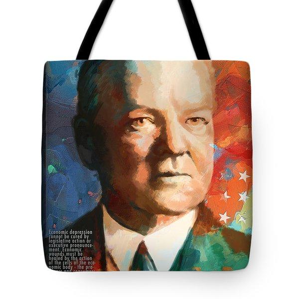 Herbert Hoover Tote Bag by Corporate Art Task Force