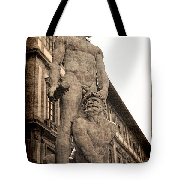 Tote Bag featuring the photograph Hercules And Caucus In Florence by Jennifer Wright