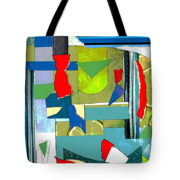 Here And There With Lime Tote Bag by Mary Bedy