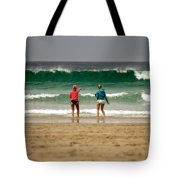 Tote Bag featuring the photograph Here Comes The Big One by Terri Waters