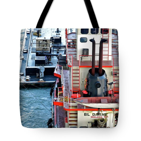 Here Comes The Diesel Fuel For The Ship Tote Bag by Kirsten Giving