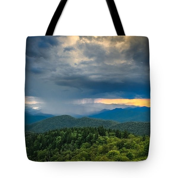Tote Bag featuring the photograph Here Comes The Rain by Joye Ardyn Durham