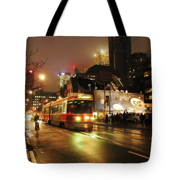 Here Comes The Streetcar Tote Bag