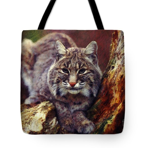 Tote Bag featuring the digital art Here Kitty Kitty by Lianne Schneider