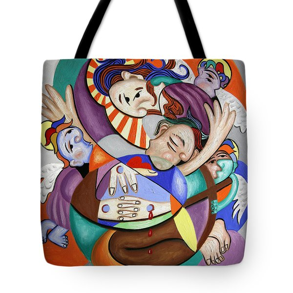 Here My Prayer Tote Bag by Anthony Falbo