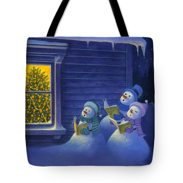 Here We Come A Caroling Tote Bag by Michael Humphries