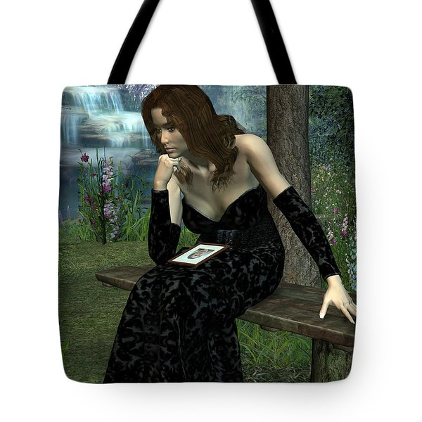 Tote Bag featuring the digital art Here Without You by Jayne Wilson
