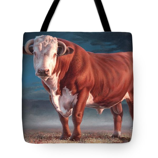 Hereford Bull Tote Bag