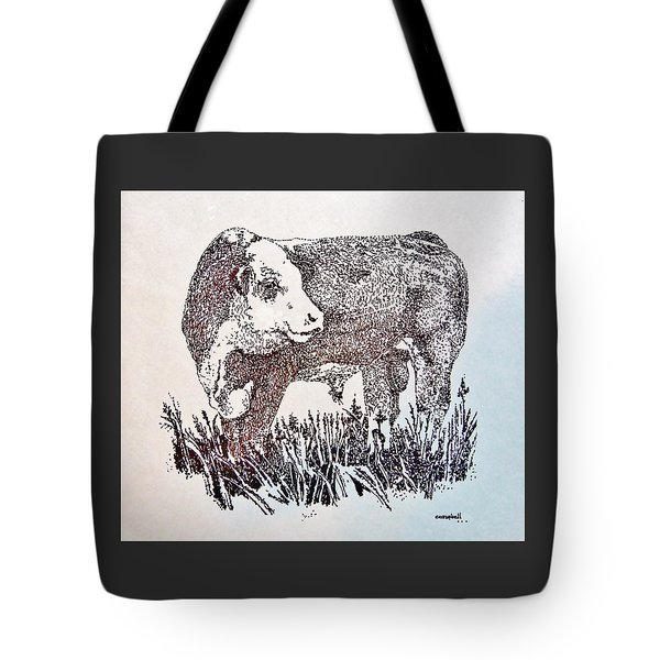 Polled Hereford Bull  Tote Bag