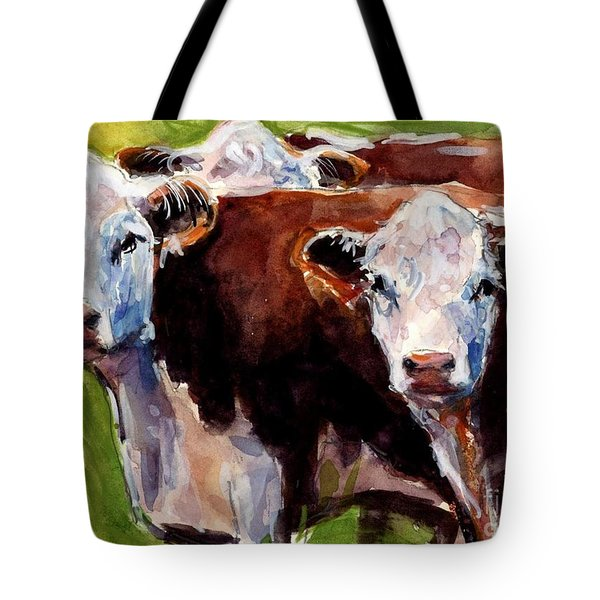 Hereford Ears Tote Bag by Molly Poole