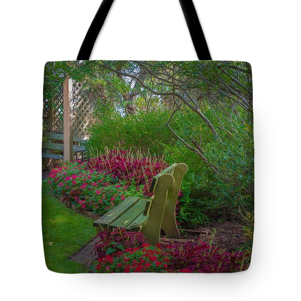 Hereford Inlet Lighthouse Garden Tote Bag