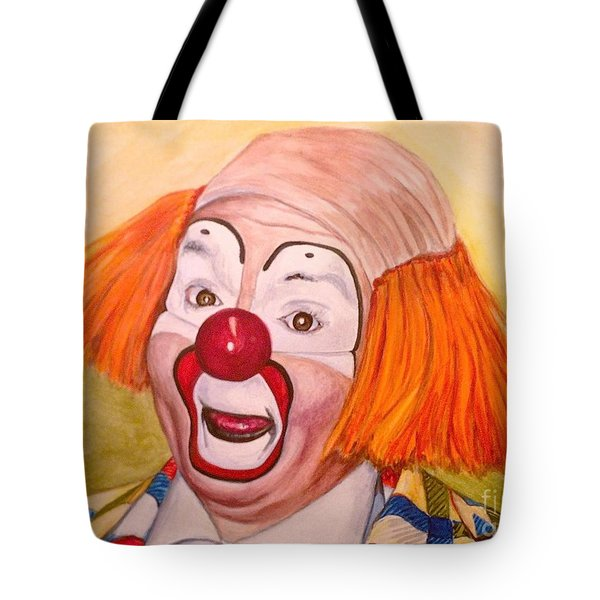 Watercolor Clown #9 Herky The Clown Tote Bag
