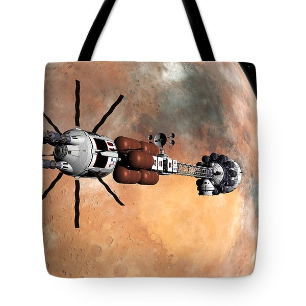 Tote Bag featuring the digital art Hermes1 Mars Insertion Part 1 by David Robinson