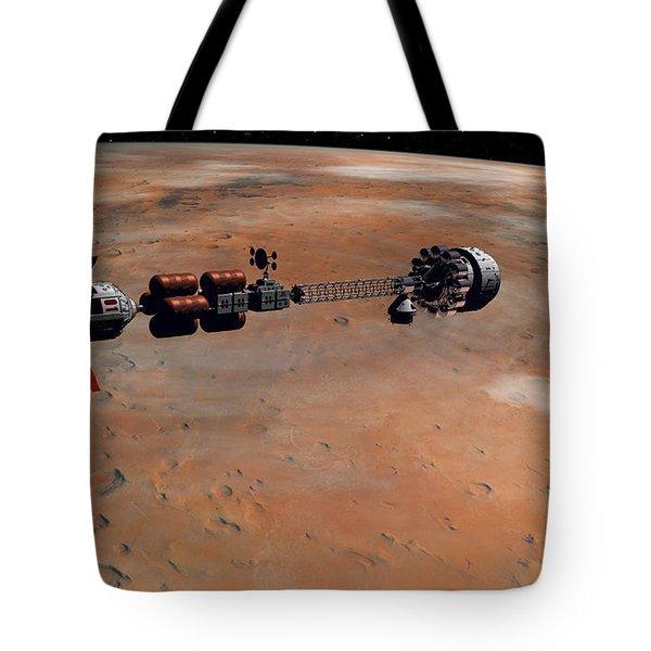 Hermes1 Orbiting Mars Tote Bag