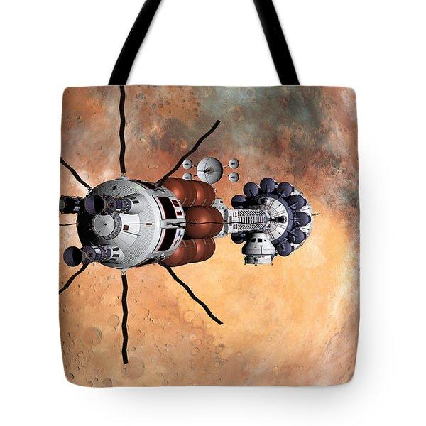 Tote Bag featuring the digital art Hermes1 Realign Orbital Path by David Robinson