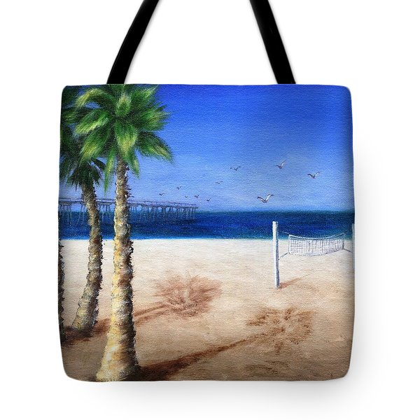 Hermosa Beach Pier Tote Bag by Jamie Frier