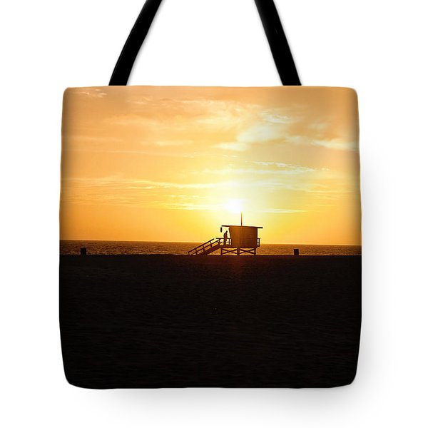 Hermosa Beach Sunset Tote Bag by Scott Pellegrin