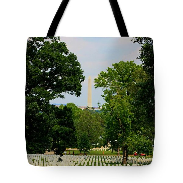 Heroes And A Monument Tote Bag by Patti Whitten