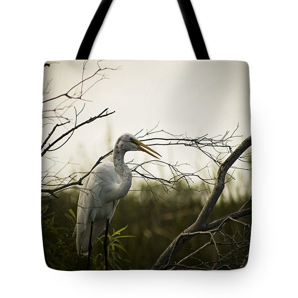 Heron At Dusk Tote Bag