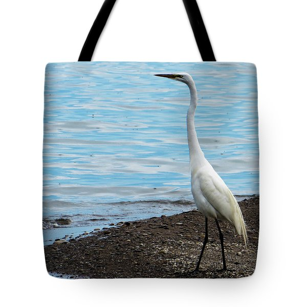 Heron By The Beach Tote Bag by Shawna Rowe
