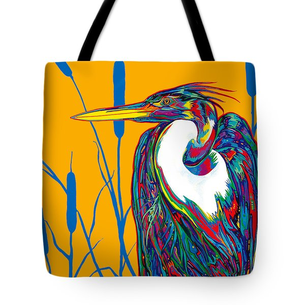 Heron Tote Bag by Derrick Higgins