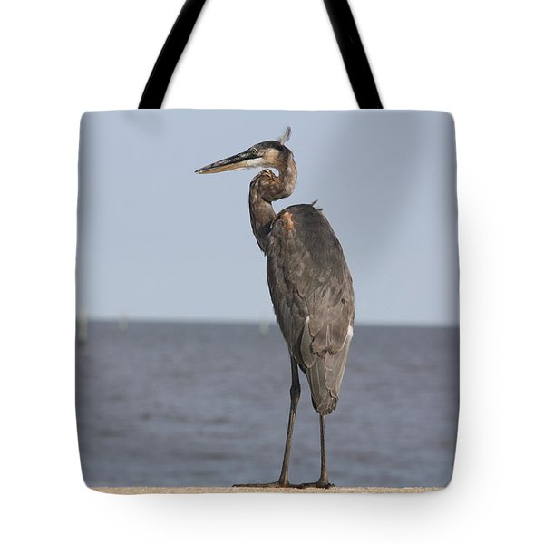 Heron Tote Bag by Donna G Smith