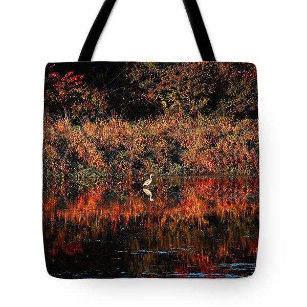 Heron Hideaway Tote Bag