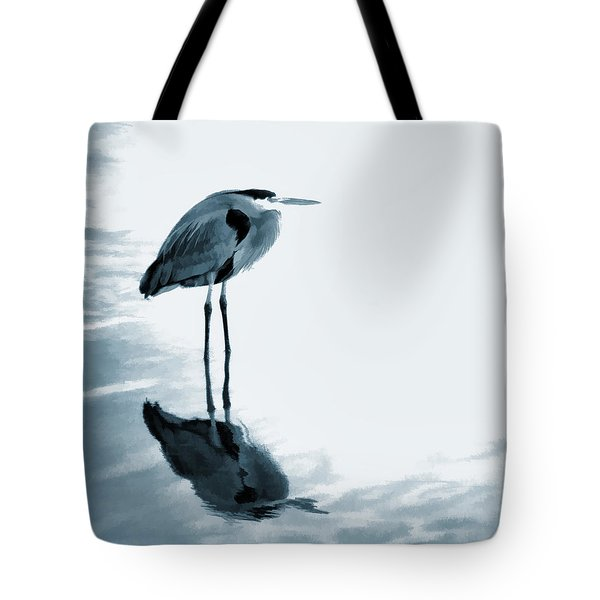 Heron In The Shallows Tote Bag by Carol Leigh