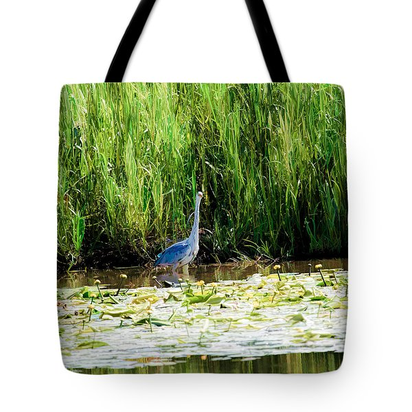 Tote Bag featuring the photograph Heron by Leif Sohlman