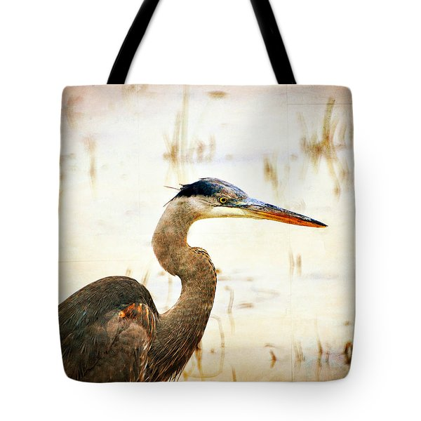 Heron Tote Bag by Marty Koch
