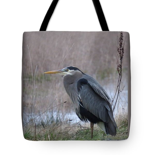 Tote Bag featuring the photograph Heron Moment by I'ina Van Lawick