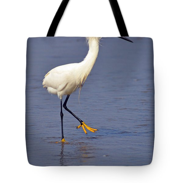 Tote Bag featuring the photograph Heron Walking by Debby Pueschel
