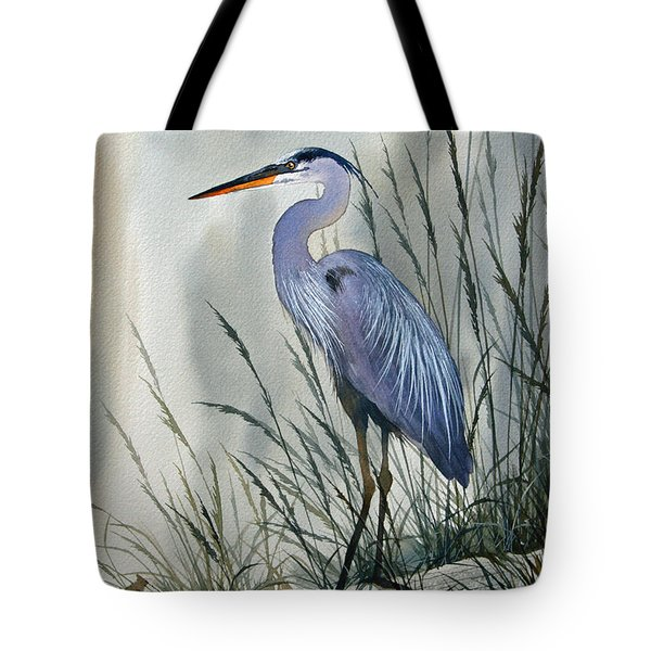 Herons Sheltered Retreat Tote Bag by James Williamson