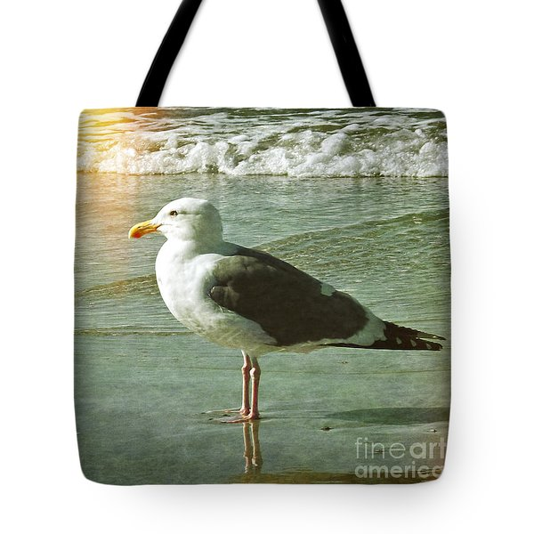 Herring Gull Watching Tote Bag