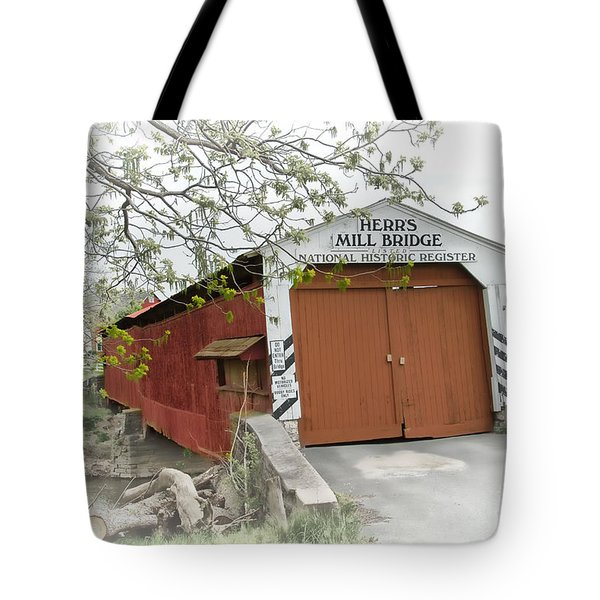 Herr's Mill Historic Bridge Tote Bag