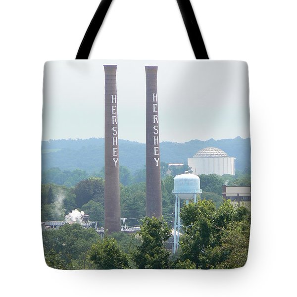 Hershey Smoke Stacks Tote Bag by Michael Porchik